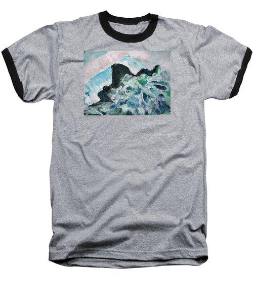 Abstract Crashing Waves Baseball T-Shirt