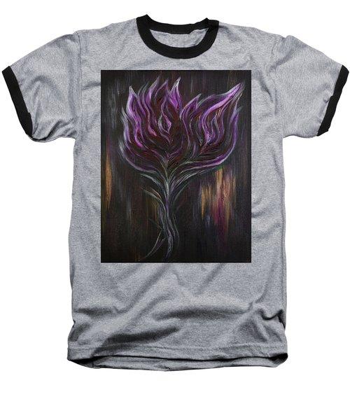 Abstract Dark Rose Baseball T-Shirt
