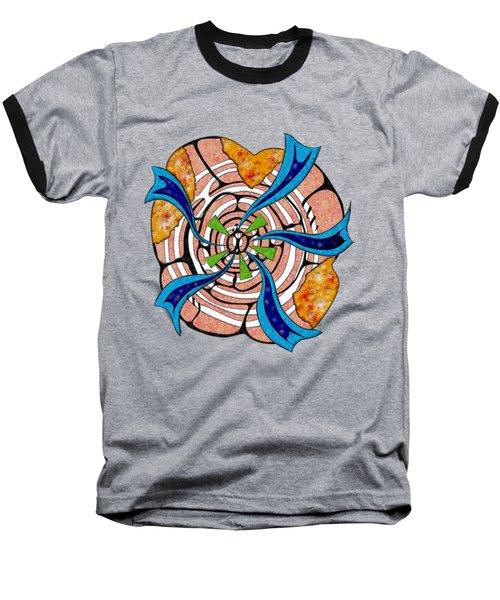 Abstract Digital Art - Ciretta V3 Baseball T-Shirt by Cersatti