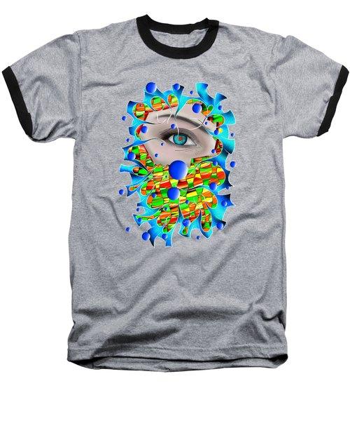 Abstract Digital Art - Delaneo V4 Baseball T-Shirt