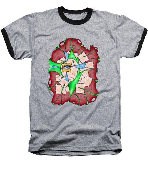 Abstract Digital Art - Deniteus V2 Baseball T-Shirt
