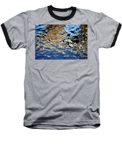 Abstract Dock Reflections I Color Baseball T-Shirt