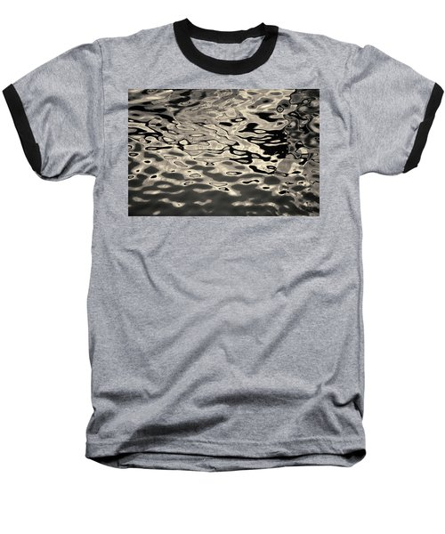Abstract Dock Reflections I Toned Baseball T-Shirt