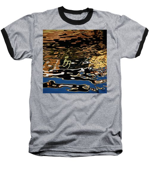 Abstract Dock Reflections II Color Sq Baseball T-Shirt