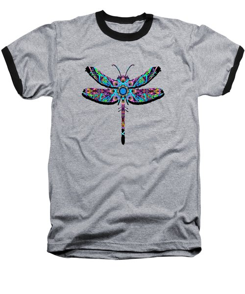 Abstract Dragonfly Baseball T-Shirt