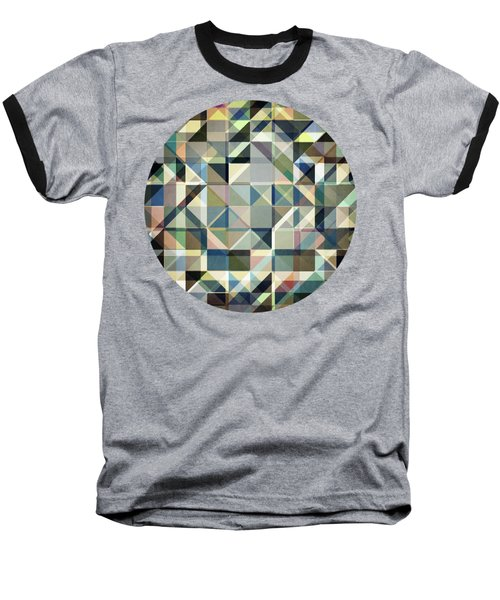 Abstract Earth Tone Grid Baseball T-Shirt by Phil Perkins