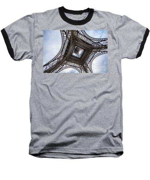 Abstract Eiffel Tower Looking Up 2 Baseball T-Shirt