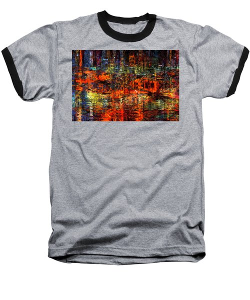 Abstract Evening Baseball T-Shirt