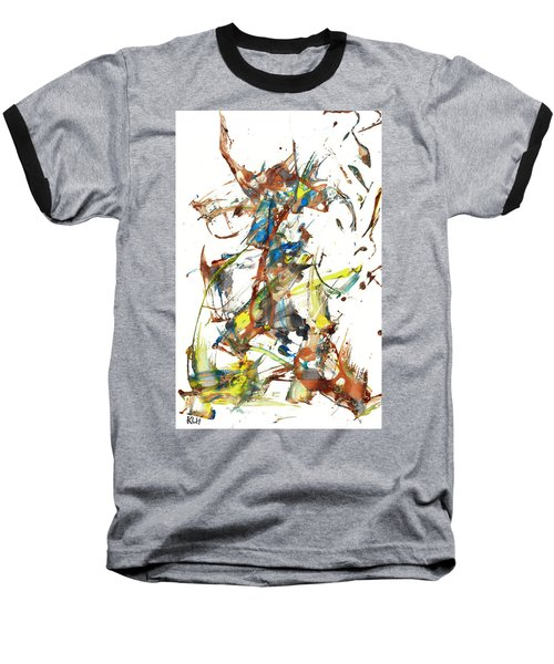 Baseball T-Shirt featuring the painting Abstract Expressionism Painting Series 1040.050812 by Kris Haas