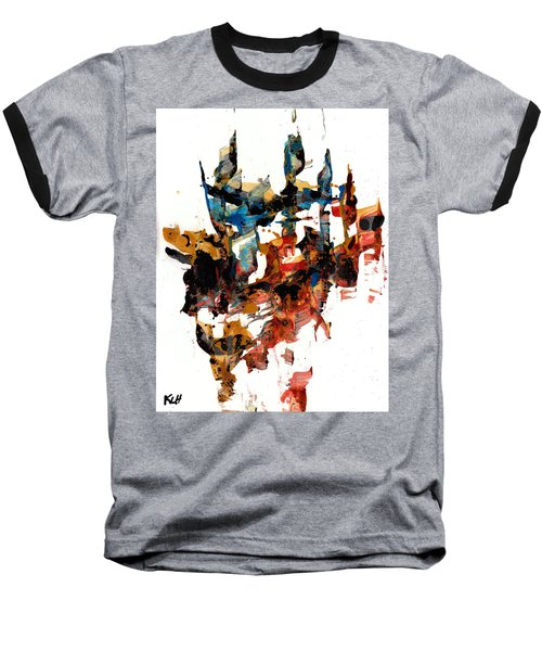 Abstract Expressionism Painting Series 750.102910 Baseball T-Shirt by Kris Haas