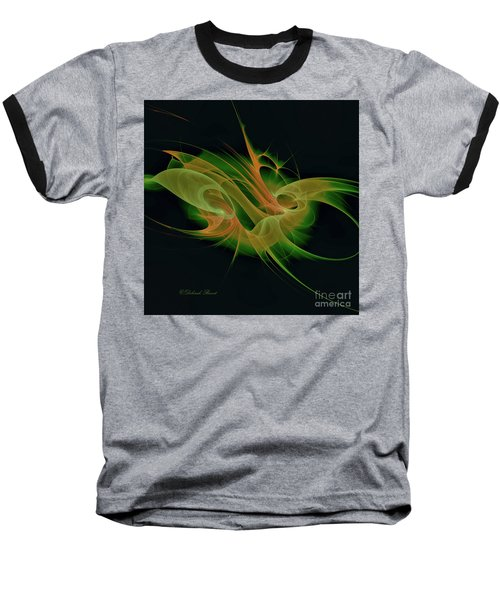Baseball T-Shirt featuring the digital art Abstract Ffz by Deborah Benoit