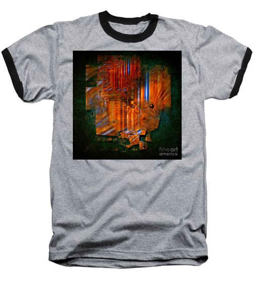 Baseball T-Shirt featuring the painting Abstract Fields by Alexa Szlavics