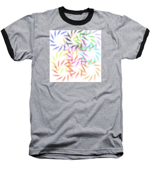 Abstract Fireworks Baseball T-Shirt
