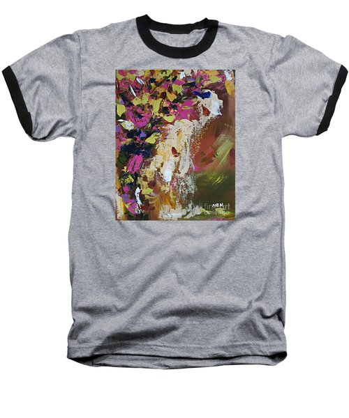 Abstract Floral Study Baseball T-Shirt