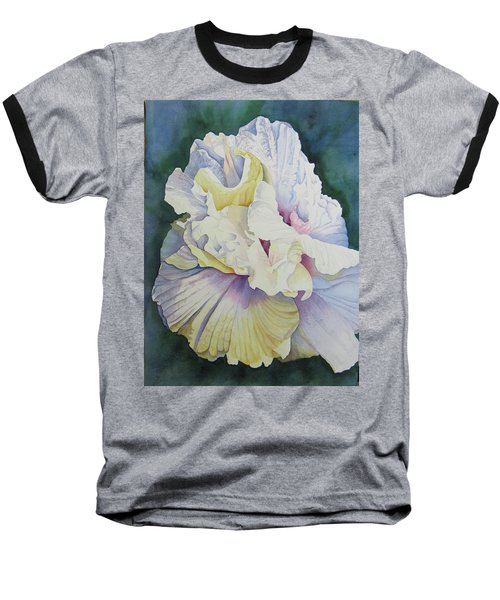 Abstract Floral Baseball T-Shirt by Teresa Beyer