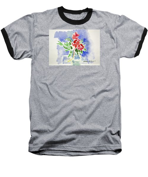 Abstract Flowers Baseball T-Shirt