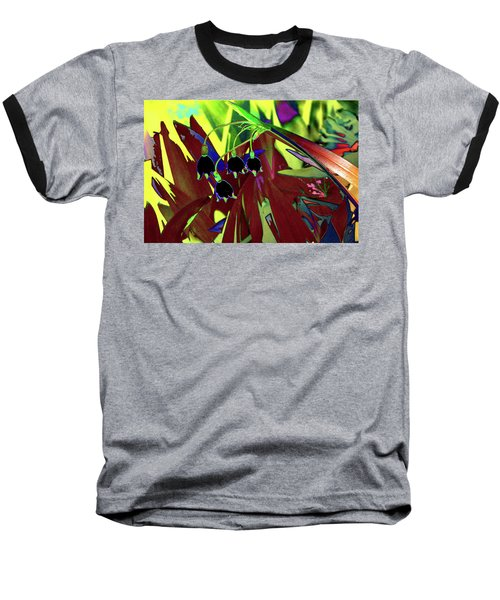 Abstract Flowers Of Light Series #10 Baseball T-Shirt