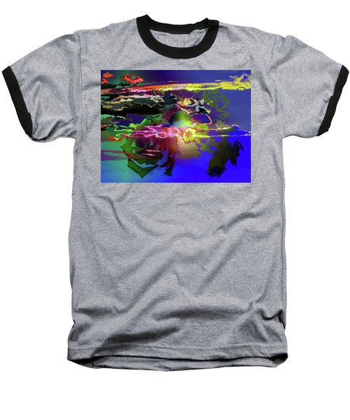 Abstract Flowers Of Light Series #11 Baseball T-Shirt