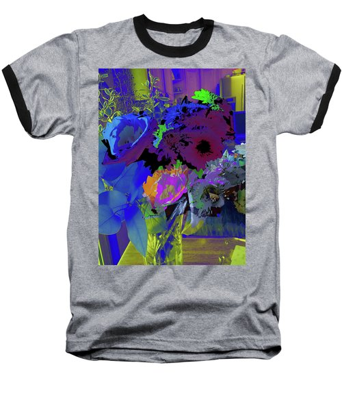 Abstract Flowers Of Light Series #18 Baseball T-Shirt