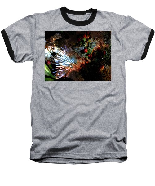Abstract Flowers Of Light Series #5 Baseball T-Shirt