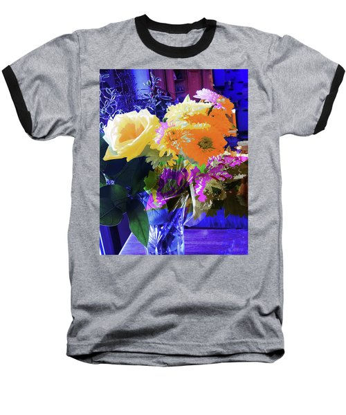 Abstract Flowers Of Light Series #7 Baseball T-Shirt