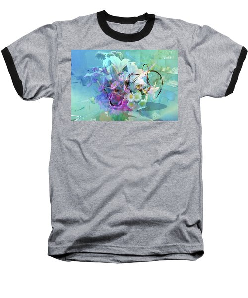 Abstract Flowers Of Light Series #9 Baseball T-Shirt