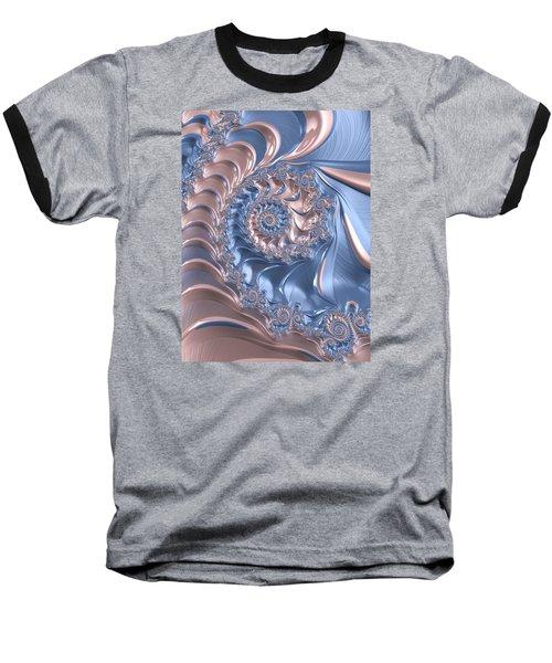 Abstract Fractal Art Rose Quartz And Serenity  Baseball T-Shirt