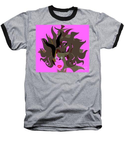 Abstract Glamour Baseball T-Shirt by Belinda Threeths