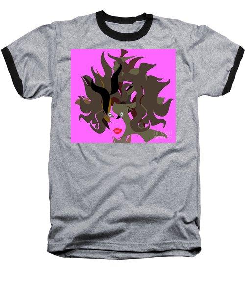 Abstract Glamour Baseball T-Shirt