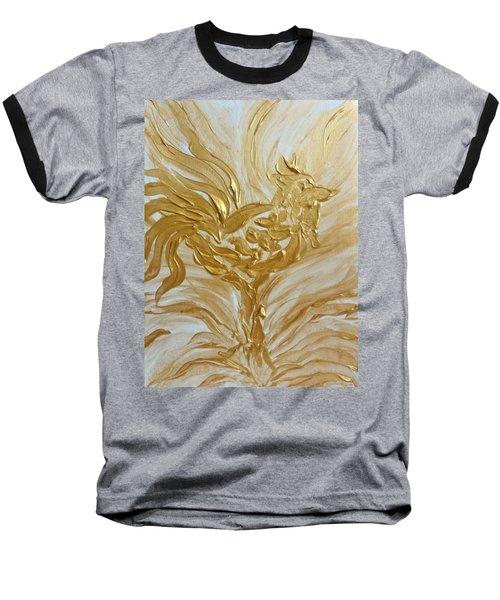 Abstract Golden Rooster Baseball T-Shirt