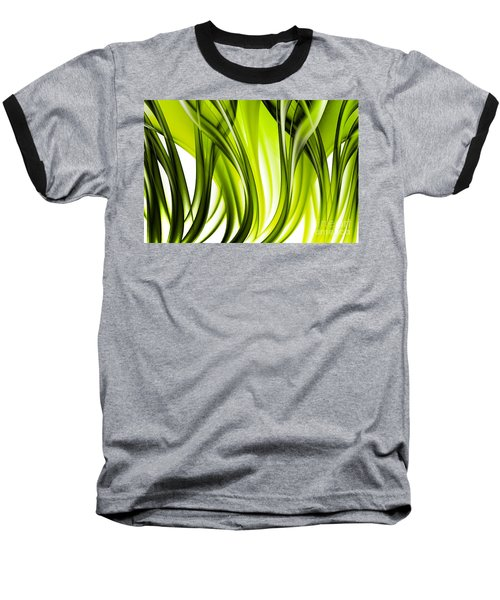 Abstract Green Grass Look Baseball T-Shirt