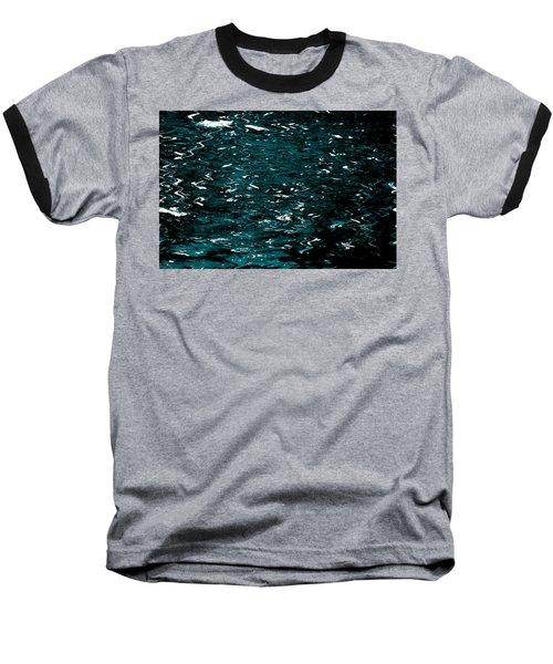 Baseball T-Shirt featuring the photograph Abstract Green Reflections by Gary Smith