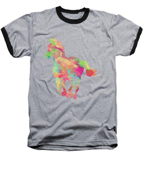 Abstract Horse Baseball T-Shirt