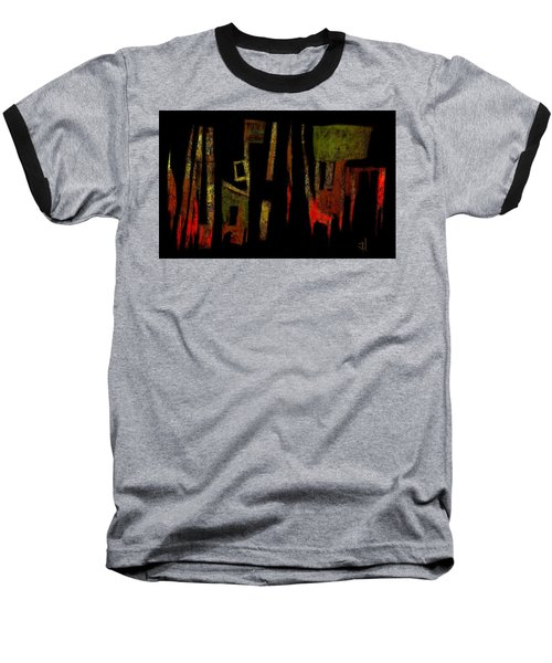 Baseball T-Shirt featuring the painting Abstract II - 19dec2016 by Jim Vance
