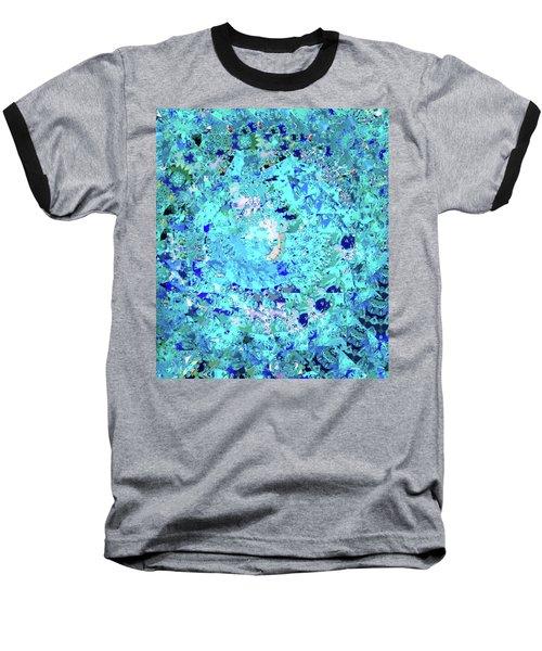 Abstract In Blue No. 56-2 Baseball T-Shirt