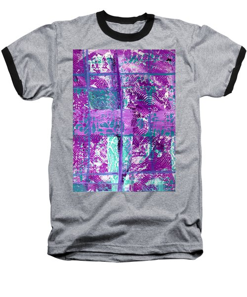 Abstract In Purple And Teal Baseball T-Shirt