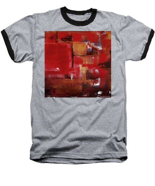 Abstract In Red Baseball T-Shirt