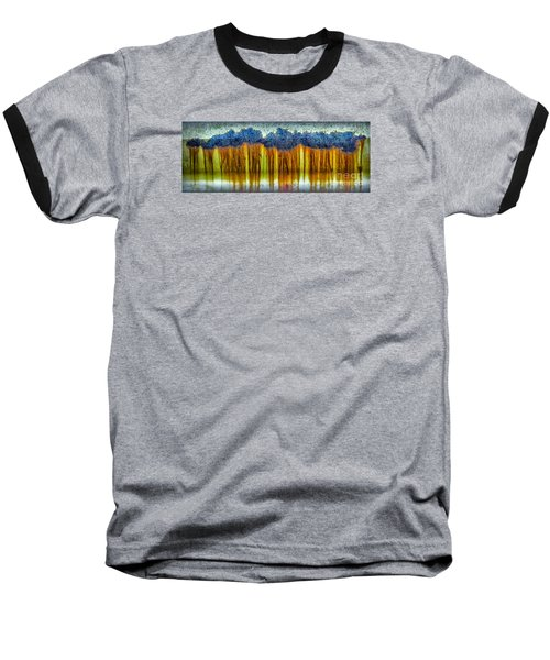 Junkyard Abstract Baseball T-Shirt by Walt Foegelle