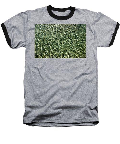 Baseball T-Shirt featuring the photograph Abstract Lake Reflections by LeeAnn McLaneGoetz McLaneGoetzStudioLLCcom