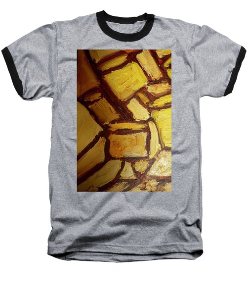 Baseball T-Shirt featuring the painting Abstract Lamp #2 by Shea Holliman