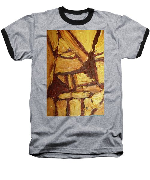 Baseball T-Shirt featuring the painting Abstract Lamp Again by Shea Holliman