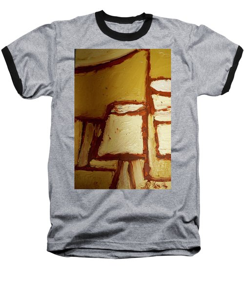 Abstract Lamp Number 4 Baseball T-Shirt by Shea Holliman