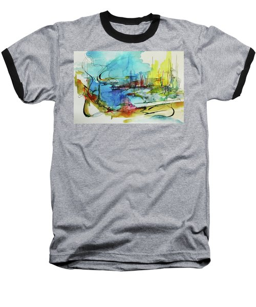 Abstract Landscape #1 Baseball T-Shirt