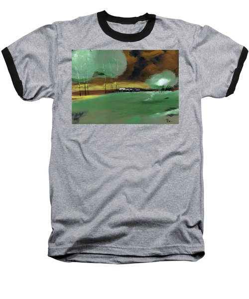 Baseball T-Shirt featuring the painting Abstract Landscape by Anil Nene