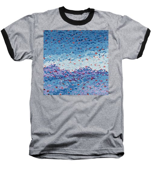 Abstract Landscape Painting 1 Baseball T-Shirt by Gordon Punt