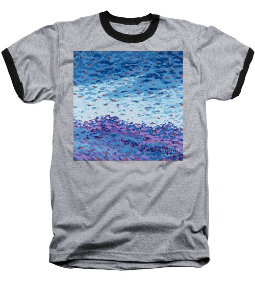 Abstract Landscape Painting 2 Baseball T-Shirt by Gordon Punt