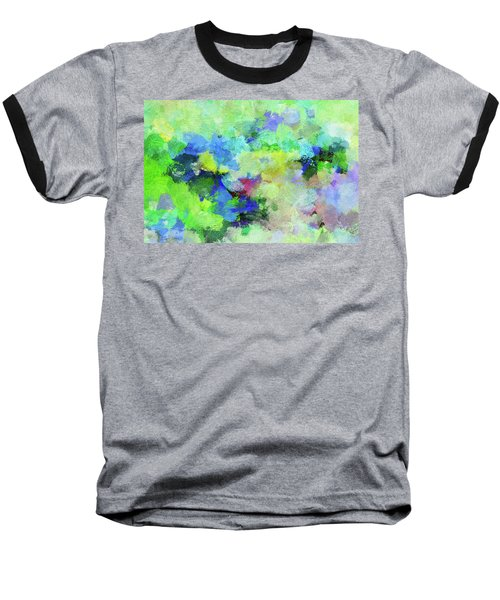 Baseball T-Shirt featuring the painting Abstract Landscape Painting by Ayse Deniz
