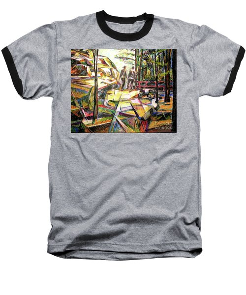 Abstract Landscape With People Baseball T-Shirt