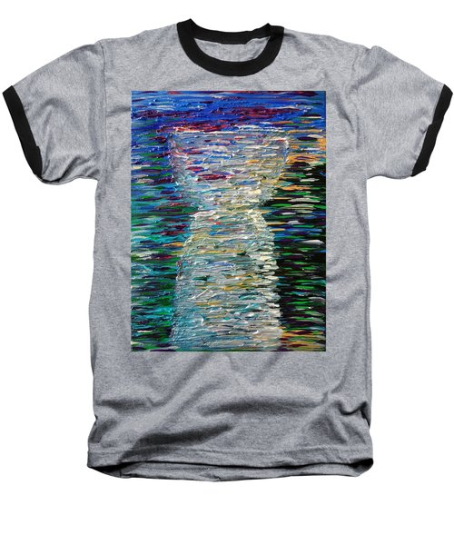Abstract Latte Stone Baseball T-Shirt