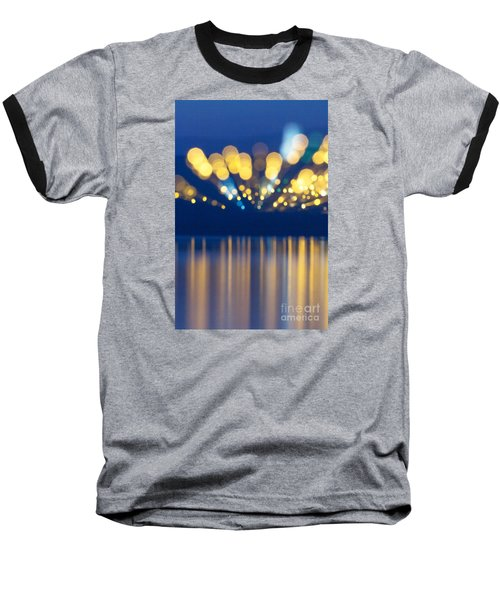 Abstract Light Texture With Mirroring Effect Baseball T-Shirt by Odon Czintos